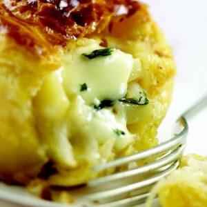 Tourte aux pommes de terre et au Rocamadour