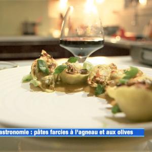 Conchiglionis agneau, olives Lucques et Laguiole